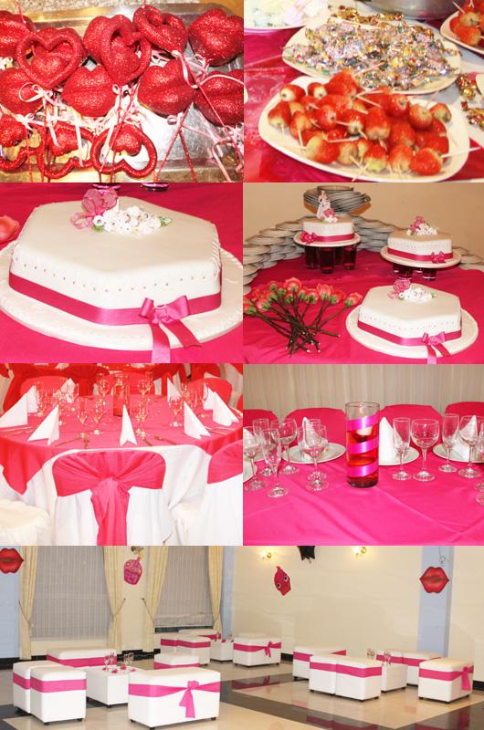 Decoración fiesta de 15 años en fucsia - Fiestas Premium